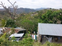 The view of upper Boaco from Milagro's house. She and Yosmiling must navigate steep dirt paths to reach the nearest main roads. (Sarah Kramer/Medill)