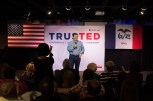 Ted Cruz takes the stage at his rally in Davenport