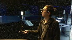 """Nishimoto """"touring"""" the new Death Star at EVL."""