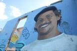 A mural of a La Perla local, Luiji (Nikita Mandhani/Medill)