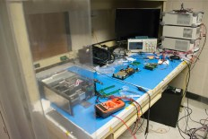 Inside UIUC's clean room, the CubeSat and it's myriad parts await assembly and testing.
