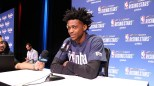 Sacramento Kings rookie De'Aaron Fox said he thinks either Ben Simmons or Donovan Mitchell will be the first to make the All-Star Game. (Serena Yeh/MEDILL)