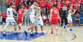 Lake Central Junior Dominic Ciapponi embraces Justin Graciano after the final whistle sounded in Wednesday's win. The Indians will face the Munster Mustangs on Friday night for a chance to play in the sectional championship game on Saturday. (Erik Alcantar/MEDILL)