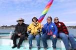 Passengers celebrate the festivities aboard Dick Ogg's boat. (Rebecca Fanning/Medill)