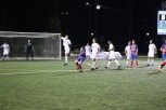 Midfielder Mattias Tomasino goes up for a header in the Wildcats defensive zone. (Nick Hennion/Medill)