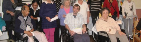 Residents of Eltandia Care home at their exhibition