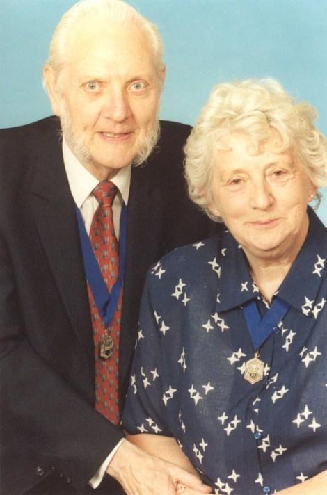 L-R: Honorary Alderman and Freeman Allan Jones and Honorary Alderman Jan Jones