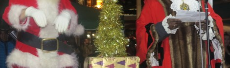 Santa and the Mayor switch on Merton's Christmas lights