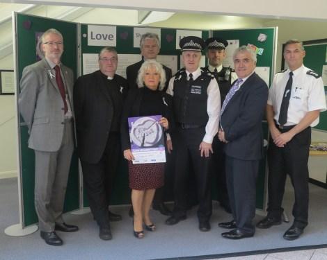Councillor Maxi Martin and Councillor Stephen Alambritis with representatives from the council and police