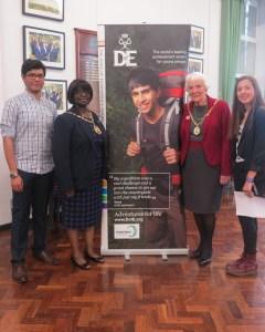 L-R: Hamid Serry (awarded bronze and silver), Mayor of Merton, Cllr Agatha Akyigyina, Mayor's consort, Vera Wells and Bettina Latuff (awarded bronze and silver)