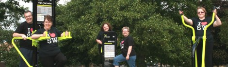 Residents putting our free green gyms to good use