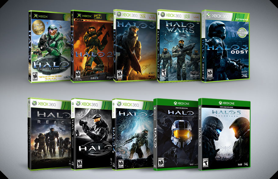 The  Halo 5  effect   Microsoft Story Labs Package designs for 10 Halo Xbox video games