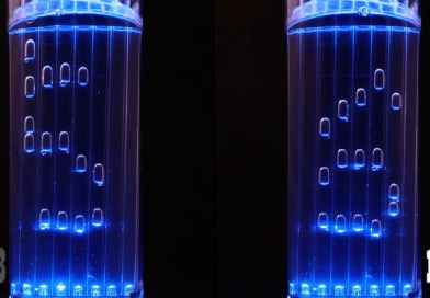 Display the Current Time in a New Way with This Clock That Uses Air Bubbles