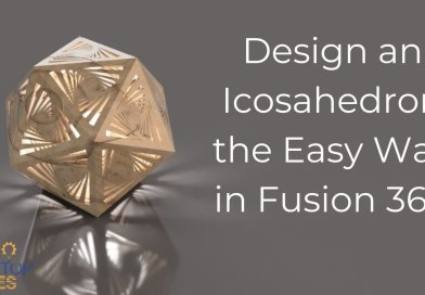 Design an Icosahedron the Easy Way in Fusion 360 with 3D Sketch via @DesktopMakes « Adafruit Industries – Makers, hackers, artists, designers and engineers!