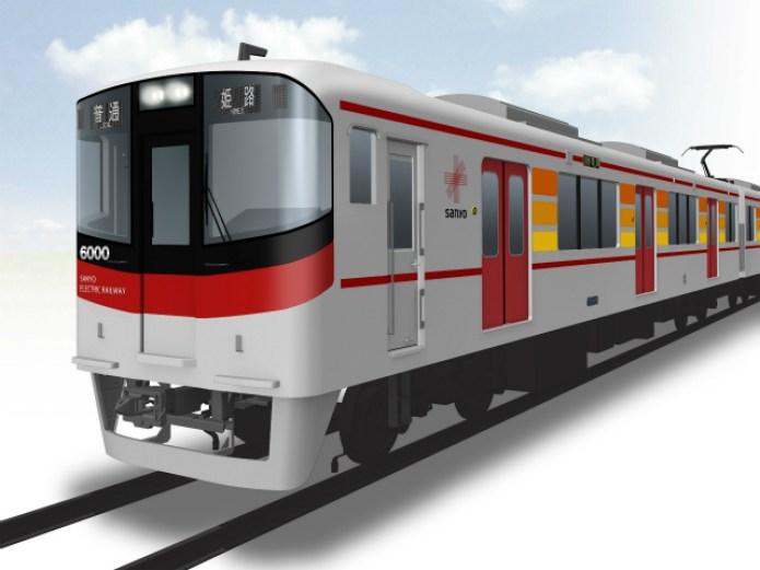 山陽電気鉄道は19日、既存車両3000系の代替として、新型車両6000系を導入すると発表した。今年度は3両2編成を新造し、普通運用から2編成を連結した直通特急運用まで、幅広く対応するという。
