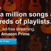 Amazon Prime Music launches in the United Kingdom