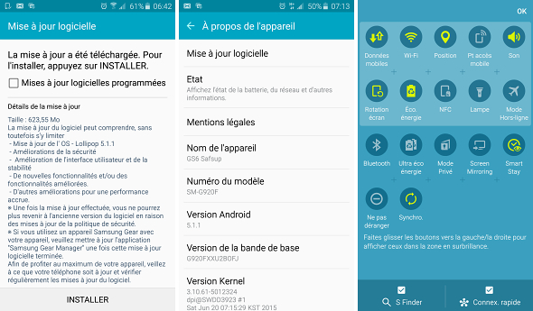 Galaxy S6 Duos Android 5.1.1 Update