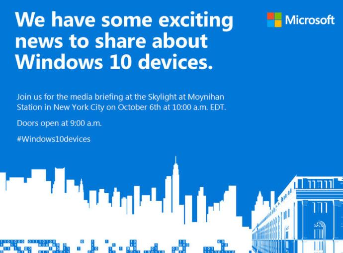 Microsoft October 6 Event