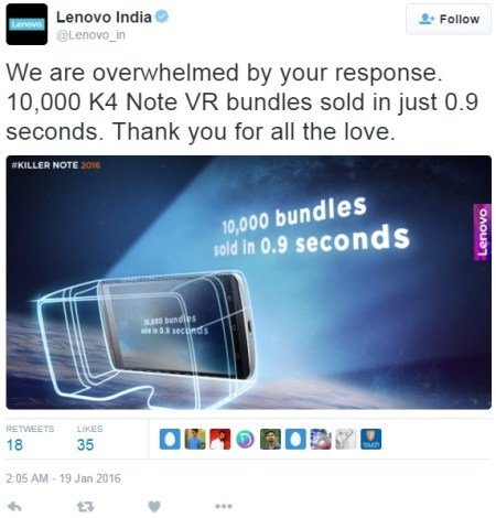 Lenovo K4 Note VR Bundles 10000 units sold Image 2 Naija tech Guide