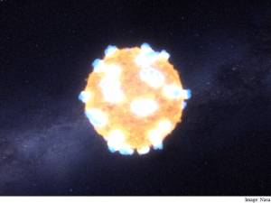 Supernova Shockwave spotted in Visible Light for the first time