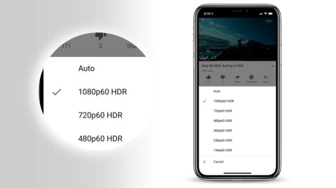 YouTube HDR video support now available for iPhone X