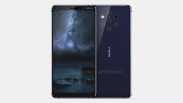 Nokia 9 Video Render confirms In-display Fingerprint and 5 Rear Cameras