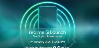 Realme 5i should make Indian debut on the 9th of January