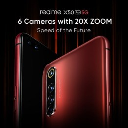 Realme X50 Pro 5G debuts with six cameras, 65W fast charging and more