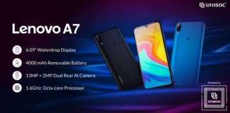 Lenovo introduced budget A7 with 4000mAh battery, Android 9 and more
