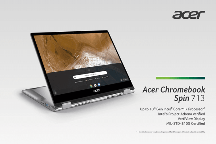 Acer announces the Chromebook 713; to go on sale as from July.
