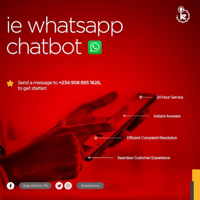 Ikeja Electricity Distribution Company launches WhatsApp Chatbot to render quality customer service.