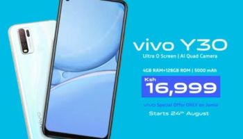 Vivo partners with Jumia to launch the Vivo Y30 smartphone exclusively in Kenya.