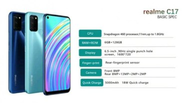 Realme Announces the Launch of the Realme C17.
