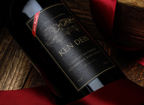 ken deis napa reserve cabernet with a numbered label