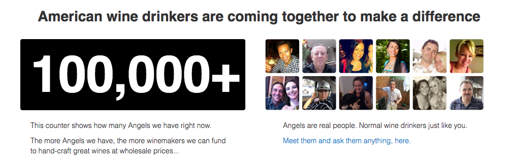 100,000 Angels counter from the Angel page of nakedwines.com