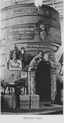 25,000 gallon wine tank at the 1893 World's Fair