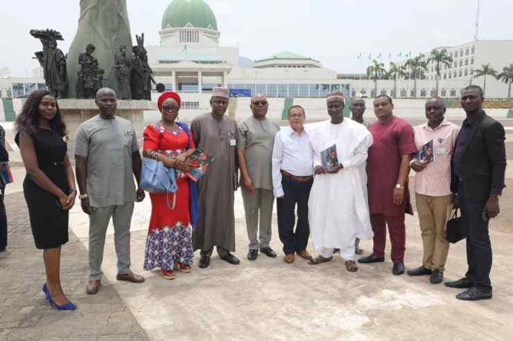 Cross Section of Dignitaries of the National Assembly with Members of AFT Defense Crew - After the Demonstration