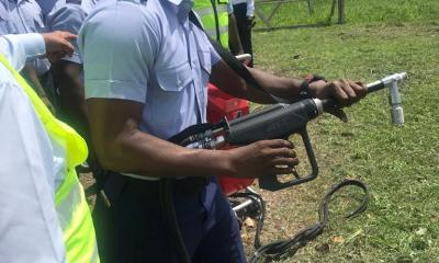 3 - AFT Ghana Airport Demonstration | Ghana Airport Fire-Fighting Official Used the AFT Backpack Gun