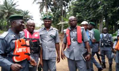 Compt Peters at Adodo With Patrol Team of the Nigeria Customs Service - Western Marine Command