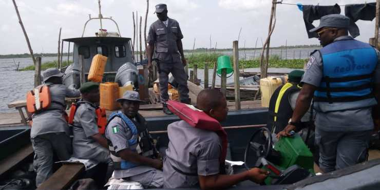 Comptroller Peters and his men still on waterways at Yekeme and Badagry outstations 2