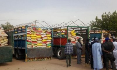 On COVID-19 Palliative, the FG has fulfiled her promise to Adamawa State, as bags of rice and beans where given to the state.