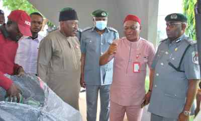 NCS Arrests 2 drug suspects in possession of 167 parcels of cannabis to NDLEA in Kaduna