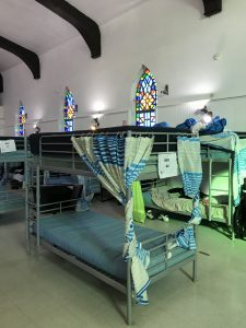 One of ten beds in the refurbished church building now known as the HOPE Recuperative Center
