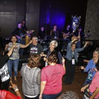 Dancing at chapter meeting