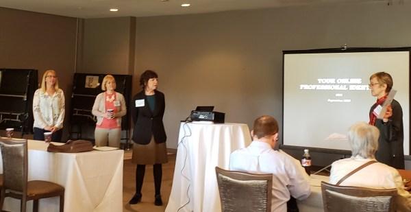 Amanda Avery, Erin Kerby, Peg Burnette, being introduced by Ramune Kubilius