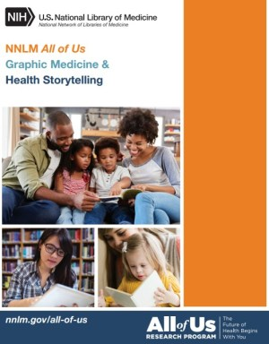NNLM All of Us Graphic Medicine and Health Storytelling program guide cover