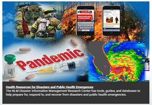 NLM disaster resources