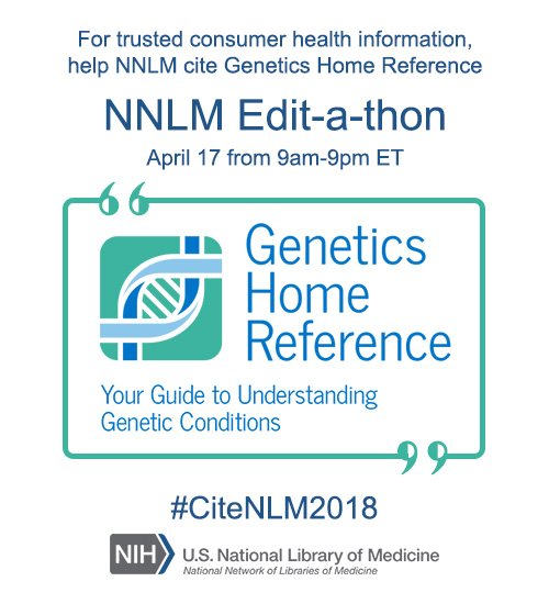 NNLM Edit-a-thon happens April 17, 2018 in Wikipedia