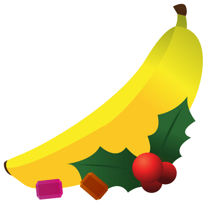 12 Holiday Fruits Clipart