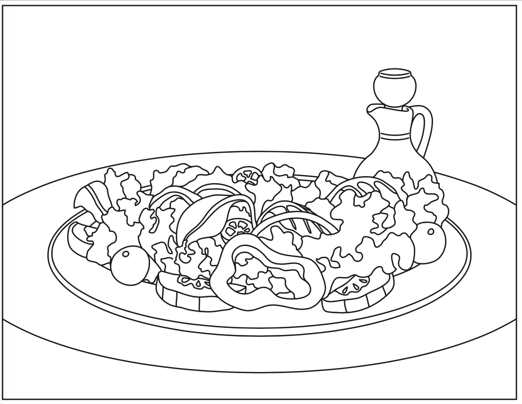 Summer Salad Coloring Page